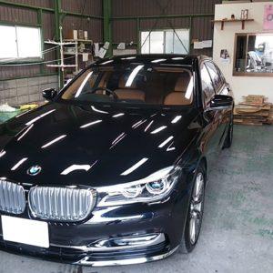 BMW750LIカイザーⅡガラスコーティング施工させていただきました